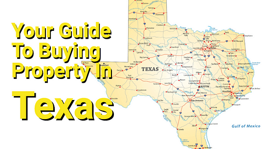 Texas road map with text