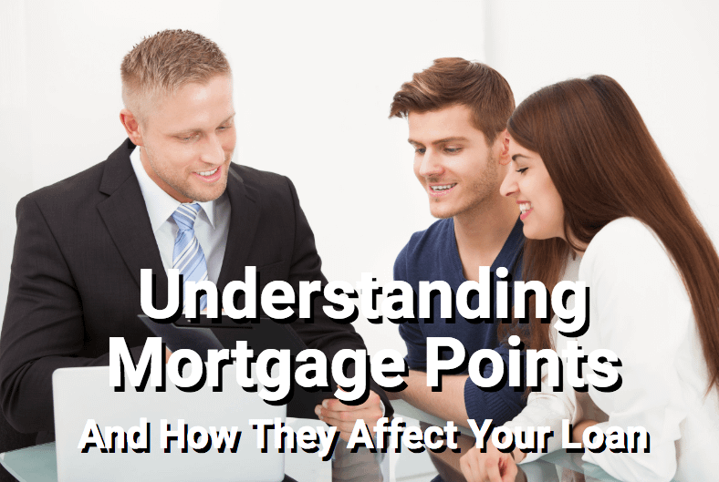 Lending officer explaining mortgage points to young couple