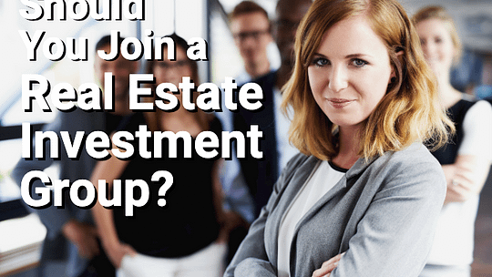 Real estate investment group with woman in the lead