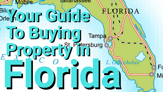 Florida map with text