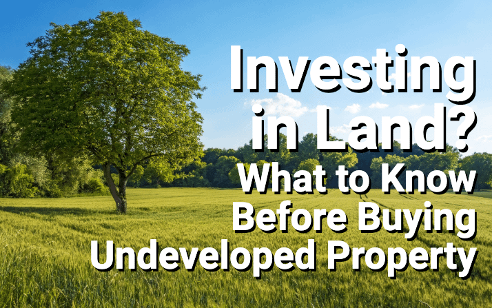 Undeveloped land with a tree