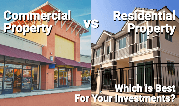 Commercial and residential property compared side by side