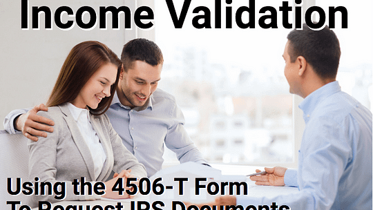 Income validation can help secure the mortgage loan you need.