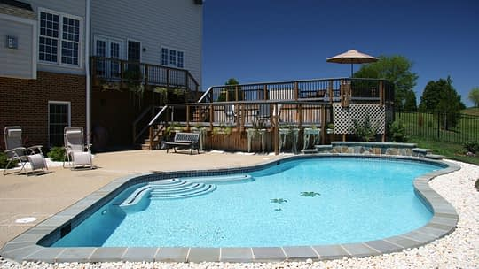 Home features - backyard pool with nice patio