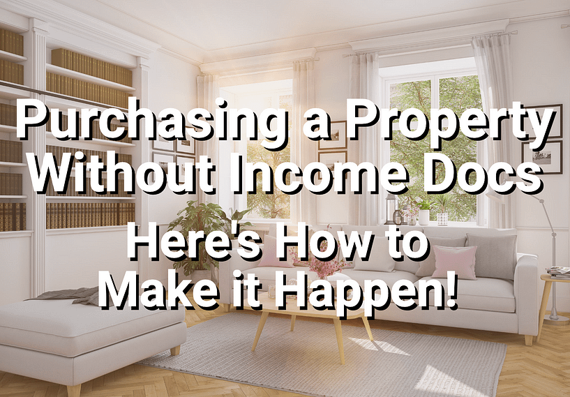 Property purchased with a no-income investment-property loan