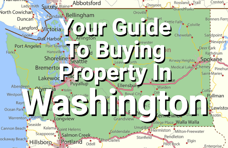 Washington state map with overlay text.