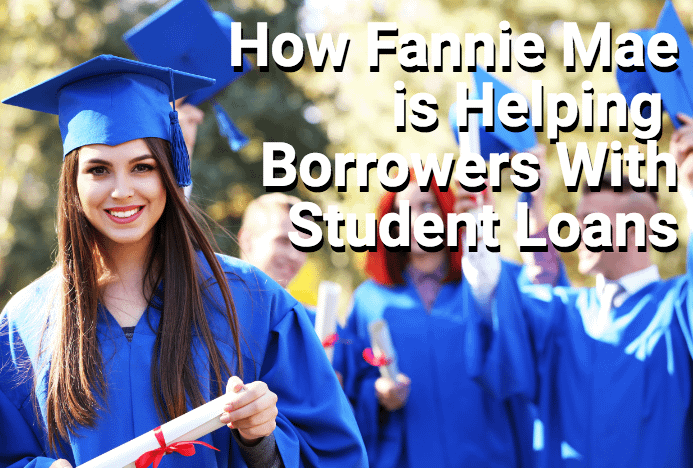 College graduate with student-loan debt in blue