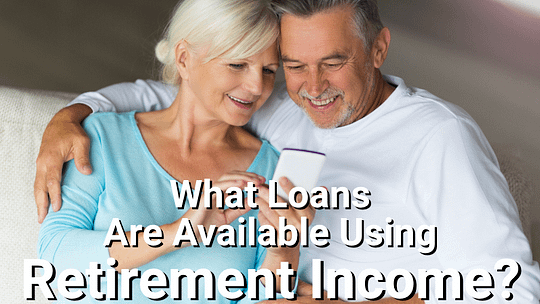 Retired couple looking at mortgage options