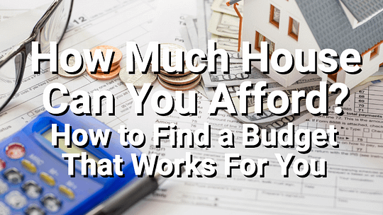 Finding a home budget with calculator and papers