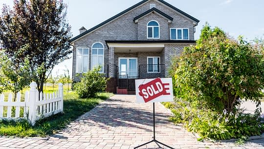 Buying a home during the COVID-19 crisis is common. Brick house has been sold.