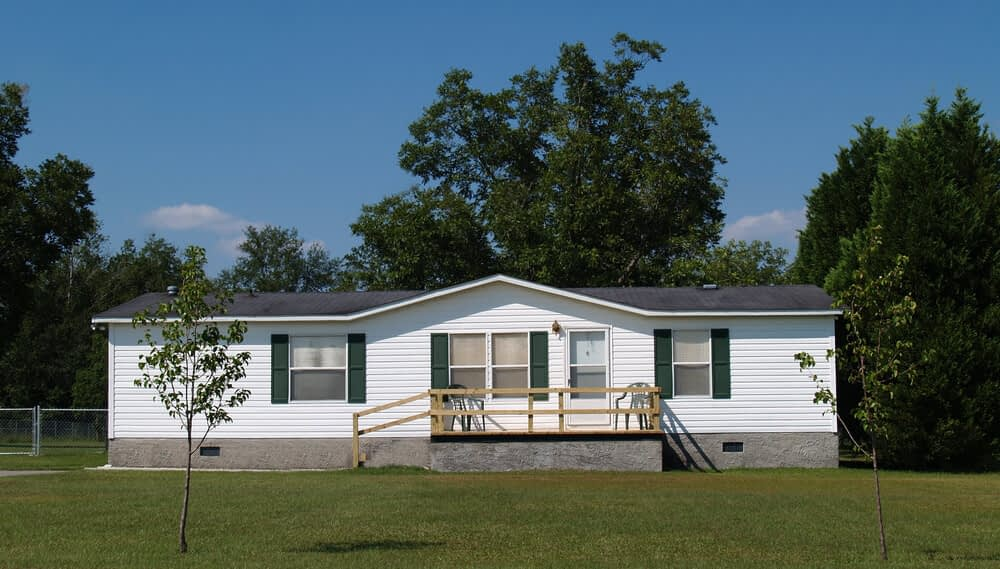 a brand new manufactured home on spacious property