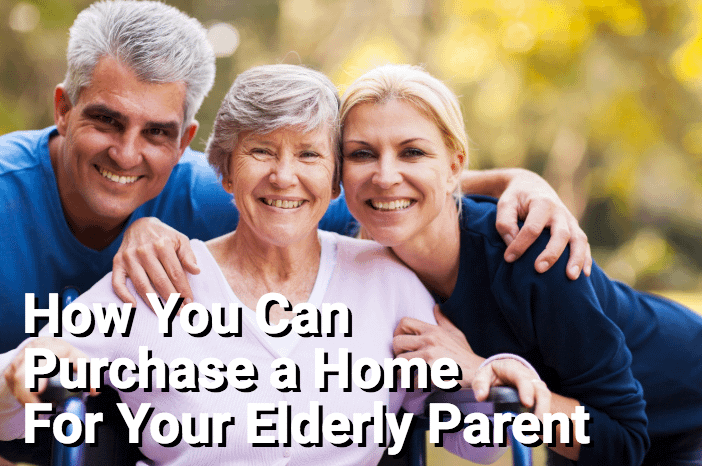 Happy couple with smiling elderly mother