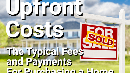 Upfront Costs text over image of sold home